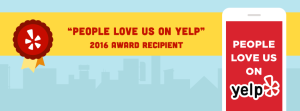 Morris Cleaning and Restoration is Proud to be a 2016 Recipient People love us on Yelp